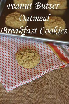 Peanut Butter Oatmeal Breakfast Cookies are a breakfast cookie anyone will enjoy!