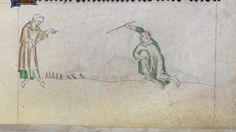 Playing club Kabyles in Queen Mary Psalter, Royal 2 B VII