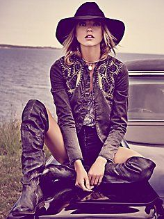 Free People. Decadent Embroidered Jacket