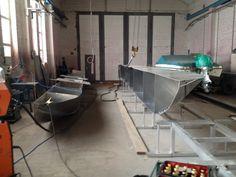 Hausboot Unterbau