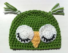 Sleeping Baby Bird Hat Green Baby Chick Hat by inamood on Etsy, $16.50