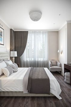 Simple Tips on Improving the Look of Your Bedroom - Interior Decor and Designing Simple Bedroom Design, Bedroom Closet Design, Home Room Design, Home Decor Bedroom, Home Interior Design, Bedroom Designs, Bedroom Retreat, Curtains Living, Luxurious Bedrooms