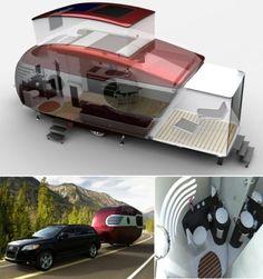 Nagyon szeretnék ilyet! Extendable caravan.