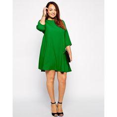 Green and black dress asos curve