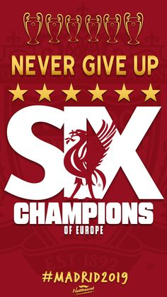 Six times, never give up. Lfc Wallpaper, Liverpool Fc Wallpaper, Liverpool Wallpapers, Wallpaper Images Hd, Liverpool Fc Champions League, Liverpool Fans, Premier League Champions, Liverpool Football Club, Messi Number