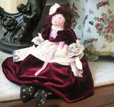 Art Doll Cloth Doll Soft Sculpture Doll AIMEE 17 by CharlotteStyle, $72.00