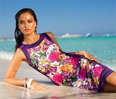 Strandkleid mit Blütenprint - die neue Beachfashion macht Lust auf Romantik!