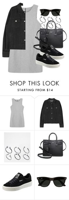 """Sin título #11939"" by vany-alvarado ❤ liked on Polyvore featuring ASOS, Yves Saint Laurent, Puma and Ray-Ban"