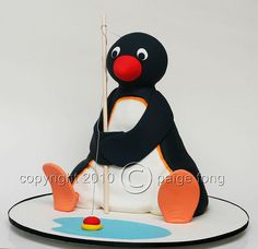 3D Pingu Cake by Paige Fong, via Flickr