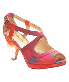 Take a look at this Pink & Orange Oldie But Goodie Sandal by Poetic Licence on #zulily today!