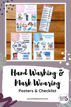 The SAFE AT SCHOOL SERIES features printable posters, checklists, and cue cards on a variety of topics designed for the 2020-2021 school year. Whether you are teaching remotely, in-person, or in a hybrid model, these printable resources were made for you. The HAND WASHING & MASK WEARING edition teaches students healthy habits related to mask wearing, hand washing, and more.