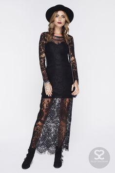 Великолепное кружевное платье в пол прекрасный выбор для новогодней ночи! | Skazkina