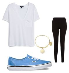 """""""Lazy"""" by kj-ales on Polyvore featuring MANGO, Vans and Alex and Ani"""
