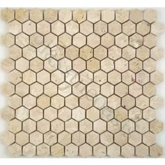 Light Travertine Cream/Beige Hexagon Stone Polished Tile