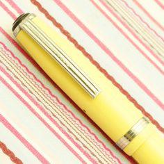 Vintage ESTERBROOK Mandarin Yellow 2-Jewel Fountain Pen