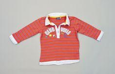 Tee-shirt polo manches longues rouge rayé bleu Sergent Major 18 mois garçons