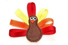 thanksgiving hair clip with tutorial by rose
