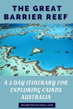 3 DAY ITINERARY FOR CAIRNS, AUSTRALIA: Cairns is often overlooked on a trip to Australia, but it shouldn't be! See why you should visit and what to do in the city and the surrounding areas in this post. By Sarah Latham. Australia Travel Guide, Visit Australia, Western Australia, Australia Trip, Sydney Australia, Australia Honeymoon, Coast Australia, Cool Places To Visit, Places To Travel