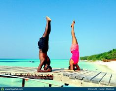 "Yoga Poses Around the World: ""Headstand, by Shifana M., Male', Maldives"""