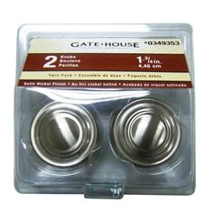 gatehouse z107446bni 1 34in bifold round cabinet knobs 2pack