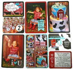 Madi's 2nd BirthdayP&P Layout by Taylor VanBruggen #Scrapbooking, #PocketsandPages, #Birthday