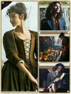 Caitriona Balfe as Claire Randall Fraser in Outlander from Outlander Starz newsletter 5/30/2014