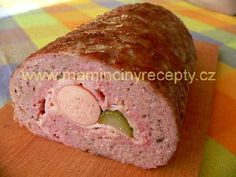 Bůčková roláda Meatloaf Recipes, Meat Recipes, Recipies, Snack Recipes, Cooking Recipes, Snacks, Czech Recipes, Ham, Banana Bread