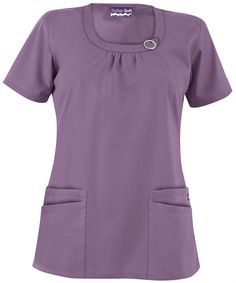 Butter-Soft Scrubs by UA Women's Rounded Neck Top, Style # Medical Uniforms, Nursing Uniforms, Scrubs Pattern, Cute Scrubs, Pajama Day, Scrubs Uniform, Nursing Wear, Medical Scrubs, Scrub Tops