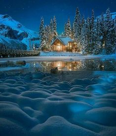 Beautiful photos taken at Emerald Lake Lodge Beautiful World, Beautiful Places, Beautiful Gorgeous, Wonderful Places, Emerald Lake, Winter Magic, Winter Scenery, Snow Scenes, Winter Pictures