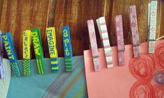 clothespin art display kit. $13.00, via Etsy.