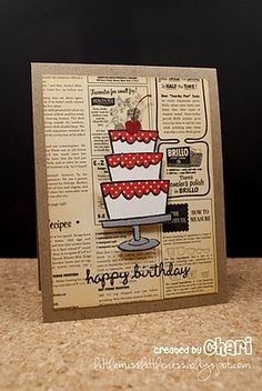 Cake Card Using Lawn Fawn Stamps Cards Stamping cakepins.com