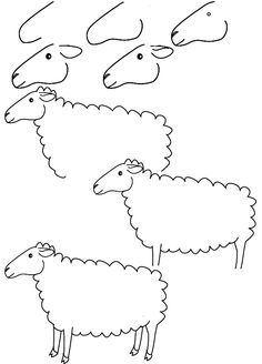 how to draw a sheep step by step for kids | drawing sheep