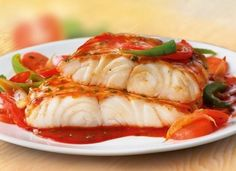 Fish with vegetable marinade.