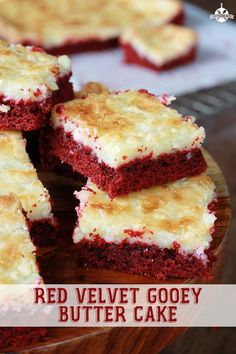 Red Velvet Gooey Butter Cake