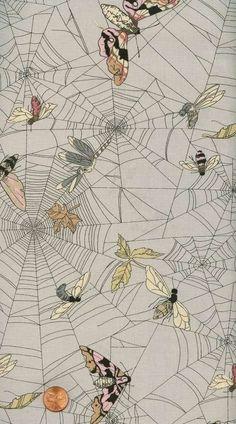 Spider web Cotton - fabric design by Alexander Henry