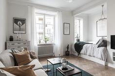 Studio apartment in muted tones