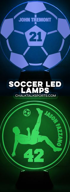 Light up your room with your love of soccer! Our LED lamps make the perfect addition to any true soccer fan our player's room! Soccer Room Decor, Led Lamp, Lamps, Soccer Fans, Team Gifts, Customized Gifts, Light Up, House, Lightbulbs