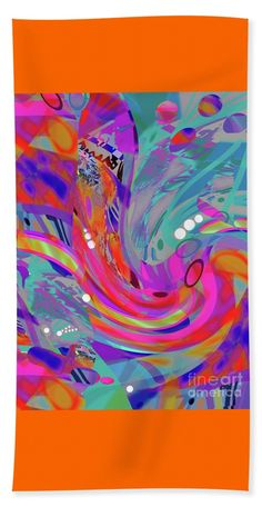 """the colors of Relentless Compelling Rhythm Towel (Beach Sheet (37"""" x 74"""")) by Expressionistart studio Priscilla Batzell.  Our towels are great."""