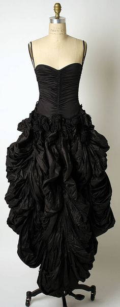 Evening Dress, Evening Gown, Splendid Evening Dress Design, Fashion Designer, Evening Dress Designer, Miracle Gown    Norma Kamali  (American, born 1945)  Date: 1978 Culture: American Medium: nylon
