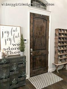 Christmas Foyer - rustic, farmhouse, vintage, industrial
