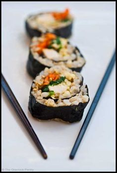 Clean Eating Sushi (Click Pic for Recipe) I completely swear by CLEAN eating!!  To INSANITY and back....  One Girls Journey to Fitness, Health, & Self Discovery.... http://mmorris.webs.com/