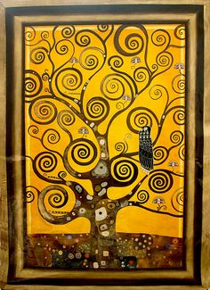 L'Arbre de Vie, for more please visit http://www.painting-in-oil.com/artworks-Klimt-Gustave-page-1-delta-ALL.html