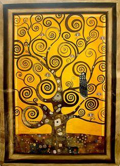 L'Arbre de Vie, for more please visit http://www.painting-in-oil.com/artworks-Klimt-Gustave-page-1-delta-ALL.html