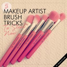 .4.Liquids Deserve Brushes Too.Use a foundation for liquid foundations for an air brushed look & liquid & cream blushes should be applied with a blush brush to achieve an even blend..5..Double Dipping.To save extra steps your foundation brush can double as a concealer brush.Just remember to always apply concealer AFTER foundation