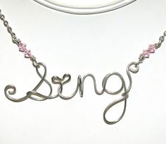 Silver Wire Wrapped Sing Necklace  by groovychickjewelry, $15.00
