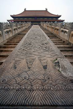 Stairway to the Hall of Supreme Harmony -  The Forbidden City - China