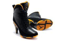Air Jordan High Heels - Black/Yellow