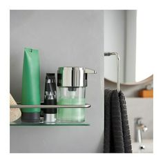 KALKGRUND bathroom organizers make the busiest moments in the bathroom a pure pleasure. You can sense both quality and luxury thanks to hidden screws and the shiny chrome that adds sparkle to your morning.