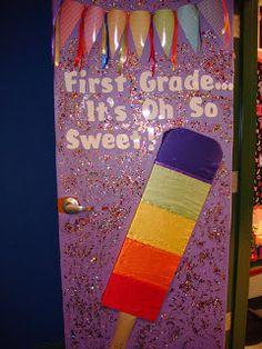 First Grade Sweeties: Classroom Tour. See smartie pants idea Candy Theme Classroom, Classroom Bulletin Boards, Classroom Setting, Classroom Door, Classroom Design, Classroom Displays, Future Classroom, School Classroom, School Fun