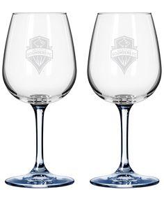 Boelter Brands Seattle Sounders 2-Pack 16 oz. Wine Glass